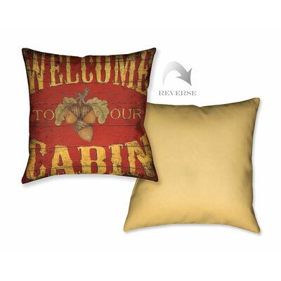 Lodge Welcome Throw Pillow