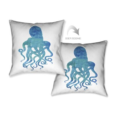 Watercolor Octopus Throw Pillow