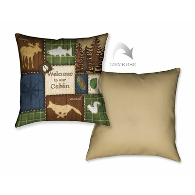 Welcome to Our Cabin Throw Pillow