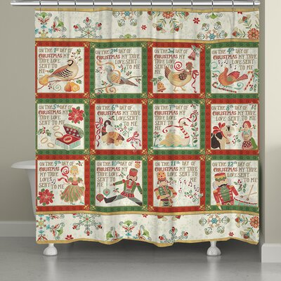 Holiday 12 Days Shower Curtain