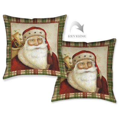 Holiday Santa I Throw Pillow