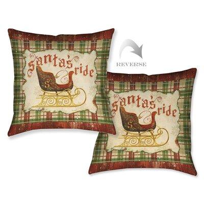 Holiday Santas Ride Throw Pillow