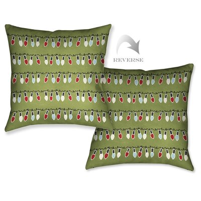 Holiday Lights Throw Pillow