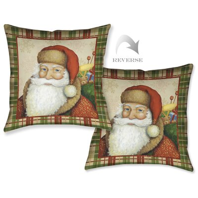 Holiday Santa II Throw Pillow