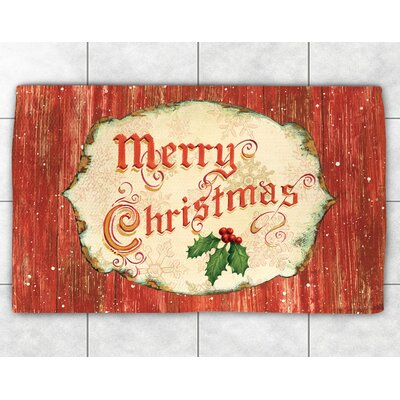 Merry Christmas Red Area Rug