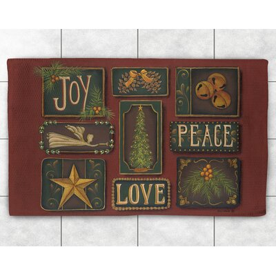 Joy Peace Love Area Rug