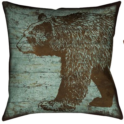 Lodge Bear Throw Pillow