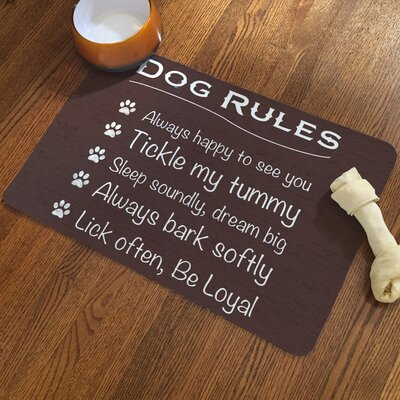Dog Rules Rug Pad