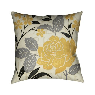 Perfect Petals I Throw Pillow Color: Yellow