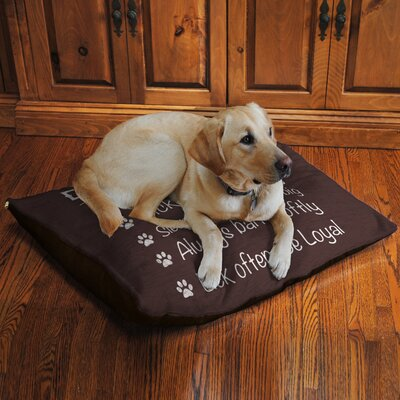 Dog Rules Fleece Dog Bed