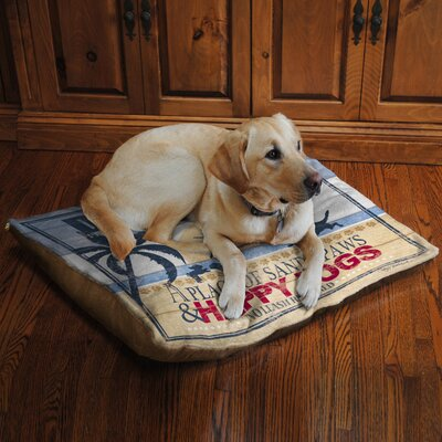 Dog Beach Fleece Dog Bed