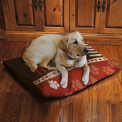 Paw Prints Fleece Dog Bed