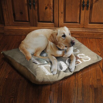 Peace Love Dogs Fleece Dog Bed