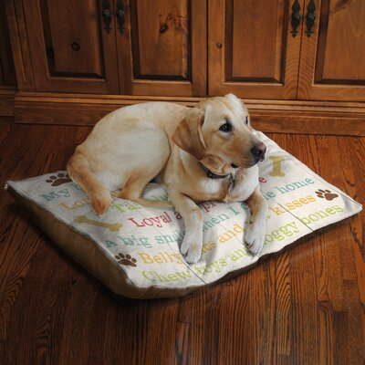 Edna Dogs Love Fleece Dog Bed