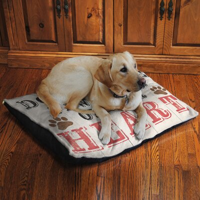 Duchess Paw Prints on Your Heart Fleece Dog Bed