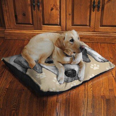 Yellow Lab Fleece Dog Bed