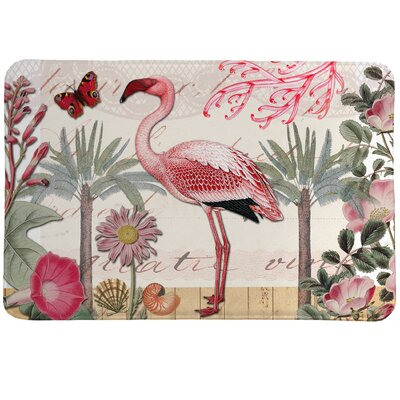 Botanical Flamingo Mat