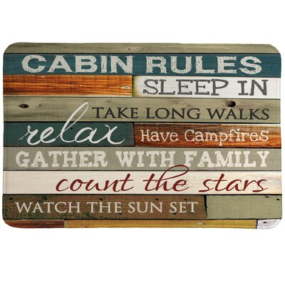 Cabin Rules Mat