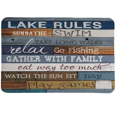 Lake Rules Mat