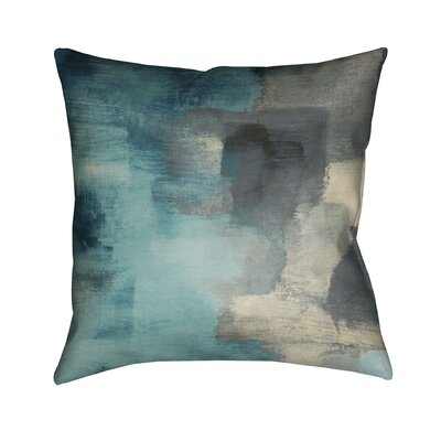 Blue Rain Throw Pillow