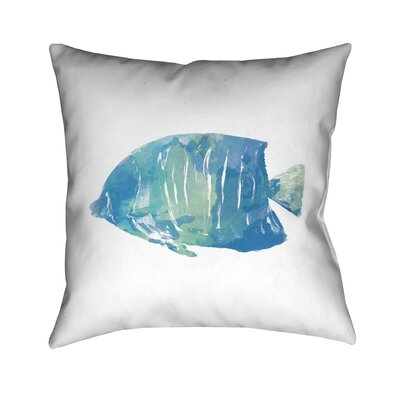 Watercolor Fish II Throw Pillow