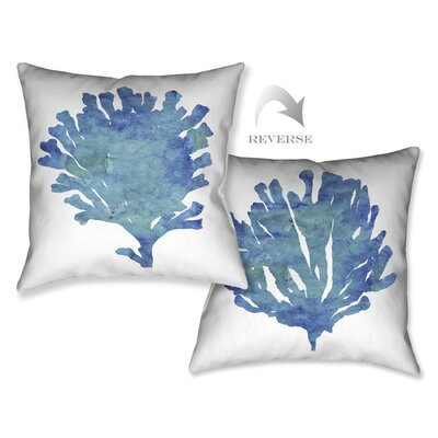 Aquamarine Outdoor Throw Pillow