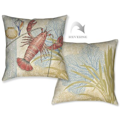 Oceana Lobster Outdoor Throw Pillow