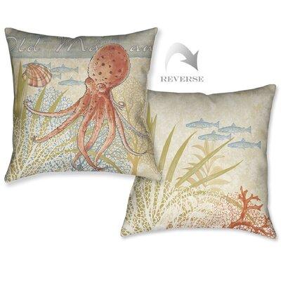 Oceana Octopus Outdoor Throw Pillow