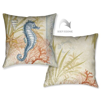 Oceana Seahorse Outdoor Throw Pillow
