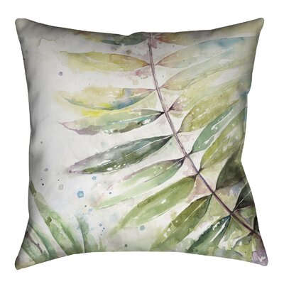 Watercolor Jungle II Outdoor Throw Pillow