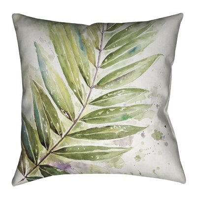 Watercolor Jungle Outdoor Throw Pillow