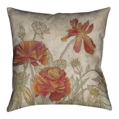Sun Blooms I Outdoor Throw Pillow