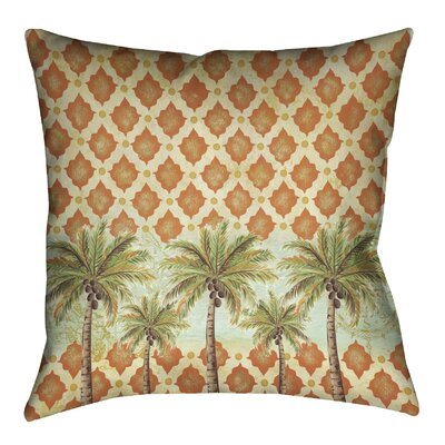 Spice Palm Outdoor Throw Pillow