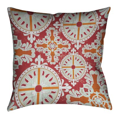 Medieval Persimmon I Outdoor Throw Pillow