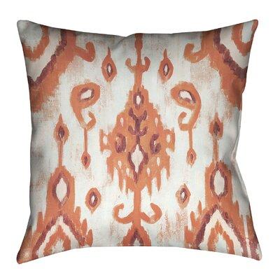 Coral Ikat II Outdoor Throw Pillow