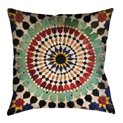 Mosaic Tile Outdoor Throw Pillow