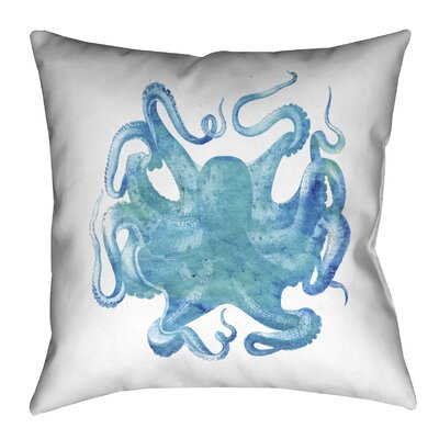 Aqua of the Deep Outdoor Throw Pillow