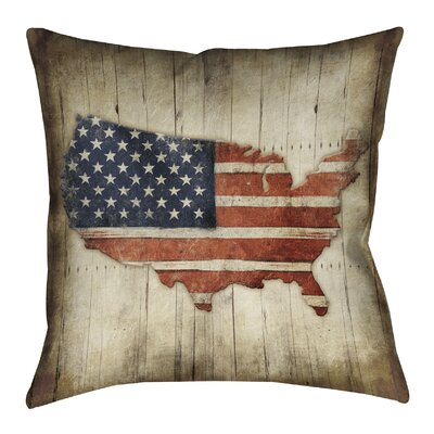 Wooden Flag Outdoor Throw Pillow
