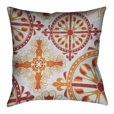 Medieval Persimmon II Outdoor Throw Pillow