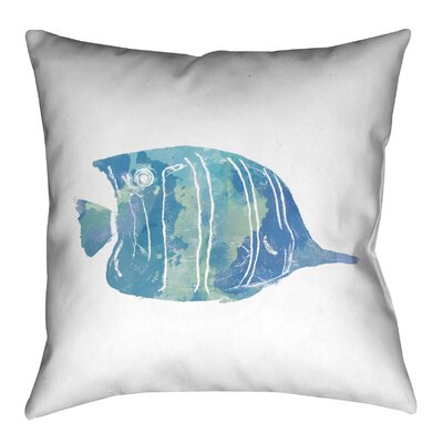 Watercolor Fish III Outdoor Throw Pillow