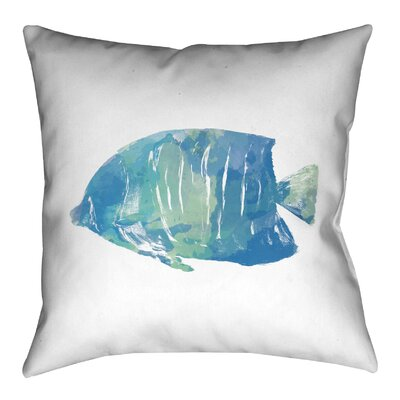 Watercolor Fish Outdoor Throw Pillow