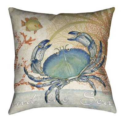 Oceana Crab Outdoor Throw Pillow