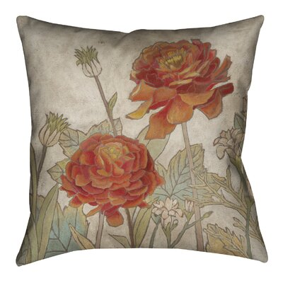 Sun Blooms Outdoor Throw Pillow