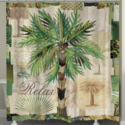 Palm Scrapbook Shower Curtain