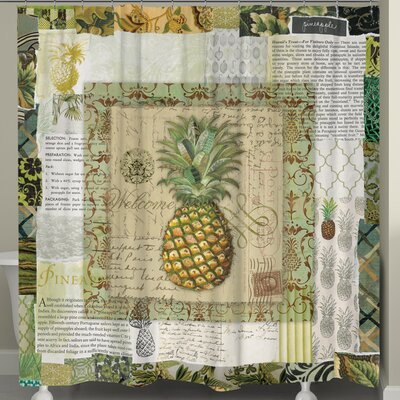 Pineapple Scrapbook Shower Curtain