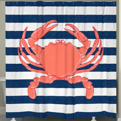 Crab Stripe Shower Curtain