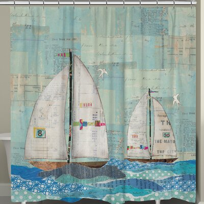 At the Regatta Shower Curtain