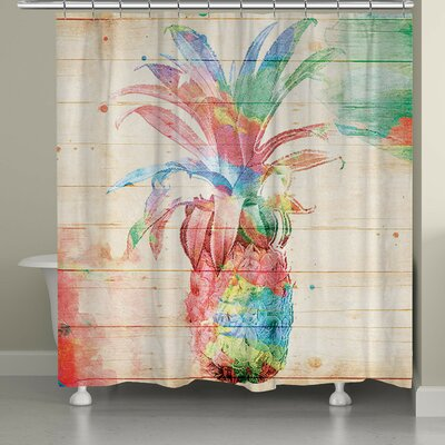 Catharine Colorful Pineapple Shower Curtain