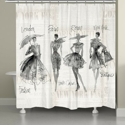 Chenango Fashion Sketchbook Shower Curtain Color: Black