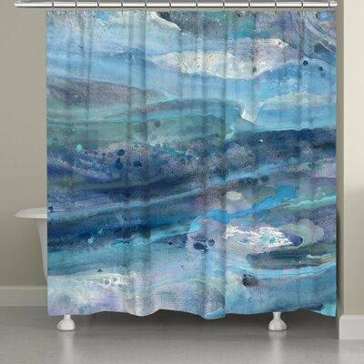 Caroga Rolling Waves Shower Curtain
